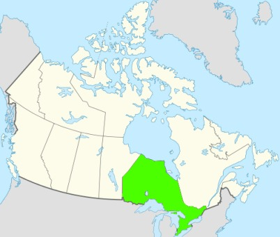 Phone numbers of the state Ontario, Canada